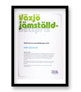 Växjö kommuns jämställdhetspris 2010